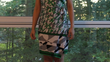 Neither of Above, and another DIY wrap dress of M6884